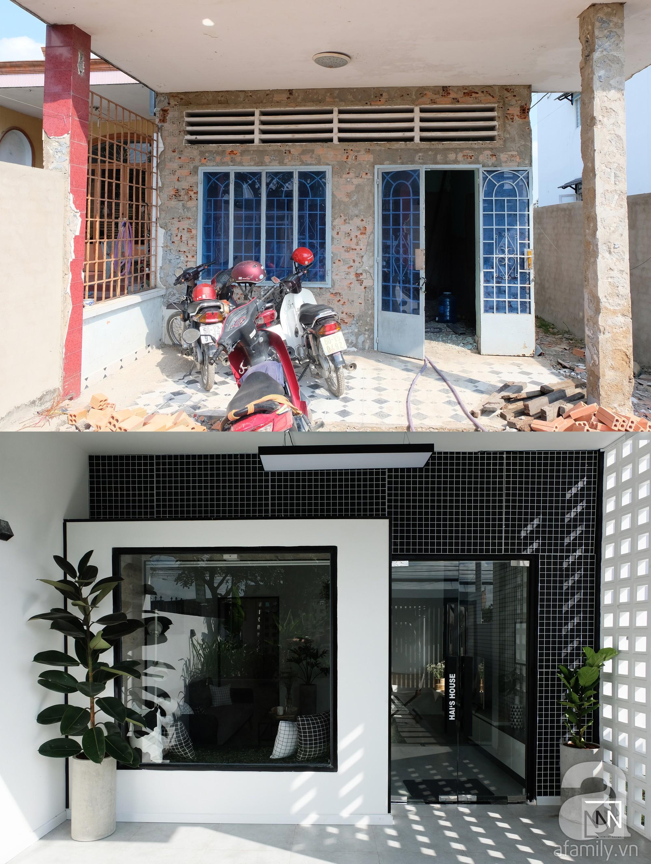 Nhà cấp 4 dột nát, cũ kỹ bỗng chốc lột xác cá tính với gam màu đen trắng ở Biên Hòa - Ảnh 1.