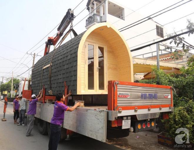 Cận cảnh ngôi nhà 140 triệu đồng có diện tích 24m², thời gian thi công từ 3-4 ngày ở Sài Gòn - Ảnh 2.
