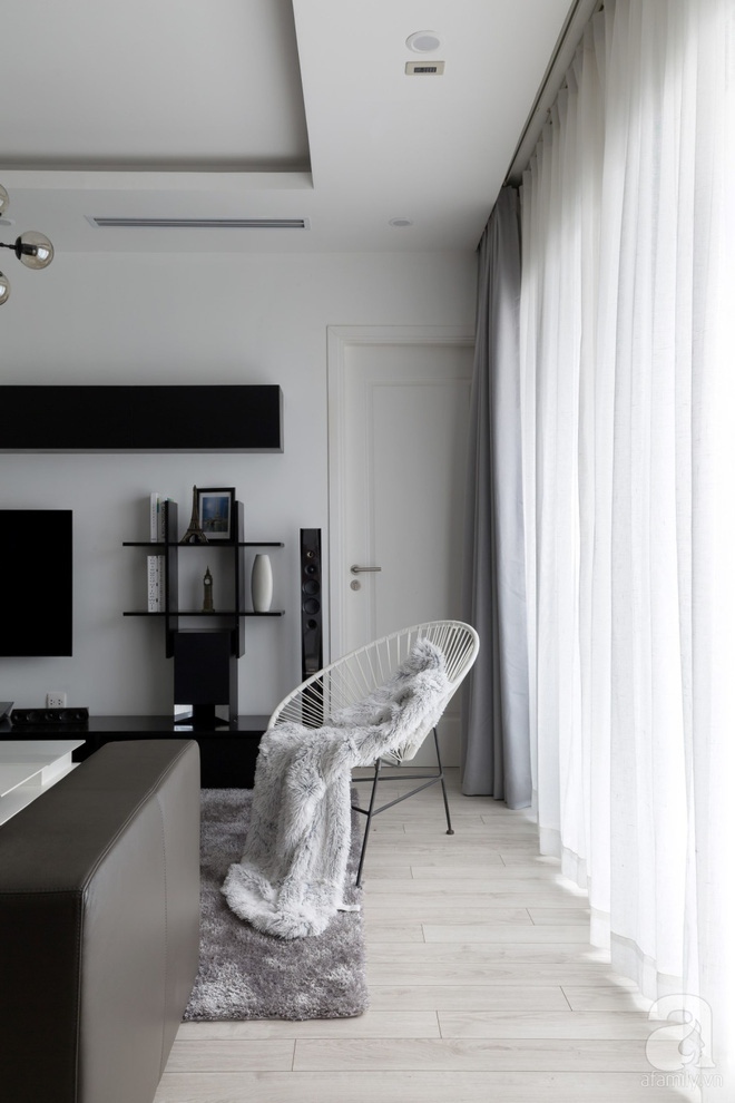 Căn hộ đen trắng 100m² đẹp như nhà trên báo nước ngoài với tổng chi phí 850 triệu đồng ở Thanh Xuân, Hà Nội - Ảnh 7.