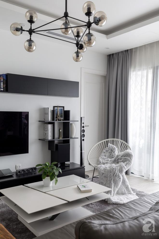 Căn hộ đen trắng 100m² đẹp như nhà trên báo nước ngoài với tổng chi phí 850 triệu đồng ở Thanh Xuân, Hà Nội - Ảnh 8.